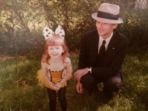 My father and I right before my second dance recital. I was the ORIGINAL tap dancing bee.